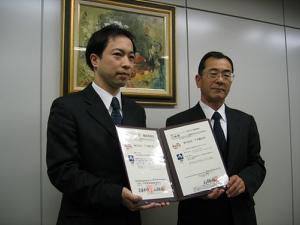 BSK首藤理事長と弊社川口専務
